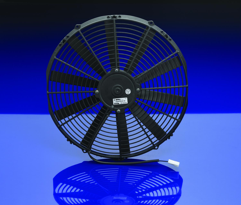 Spal 16 straight blade low profile fan 12 volt puller for 12 volt window fan